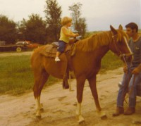 The author, her horse, and her father, circa 1978.